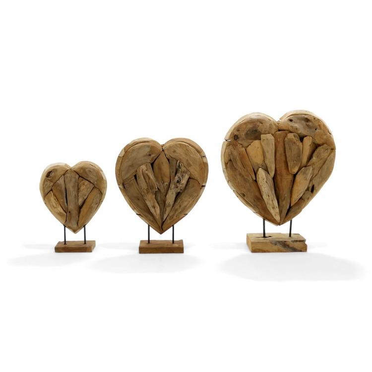 RAW hjärta i trä
