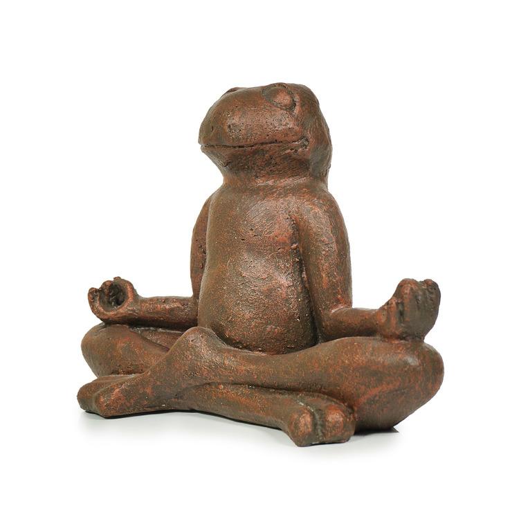 Skulptur groda av terrakotta