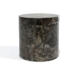 Opbevaringskrukke i sort marmor