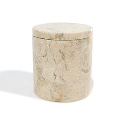 Förvaringsburk ljus marmor