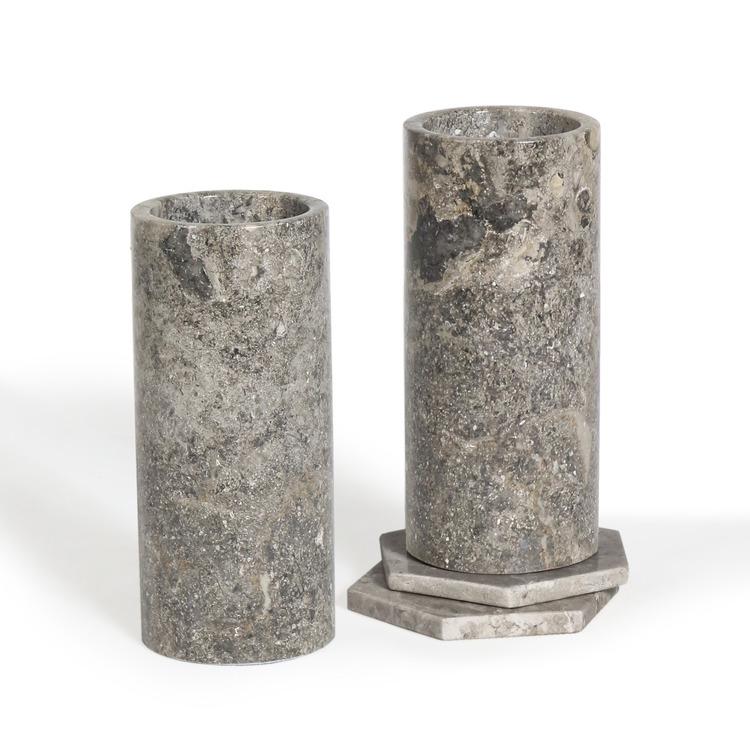 Vas av Marmor 18x8 cm