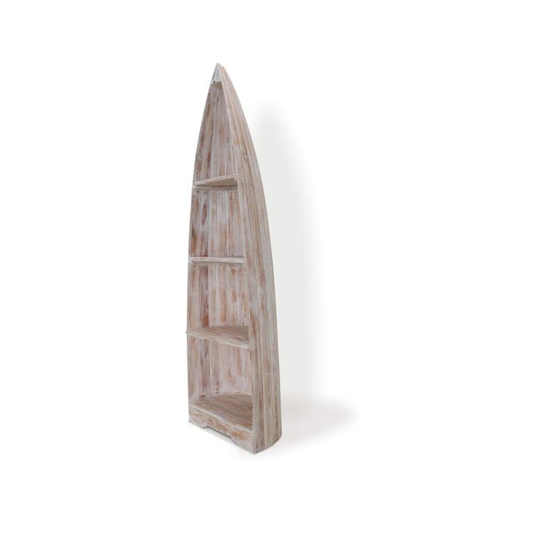 Hörnhylla Båt Whitewash 200 cm
