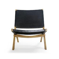 AMOND hoppfällbar loungestol svart