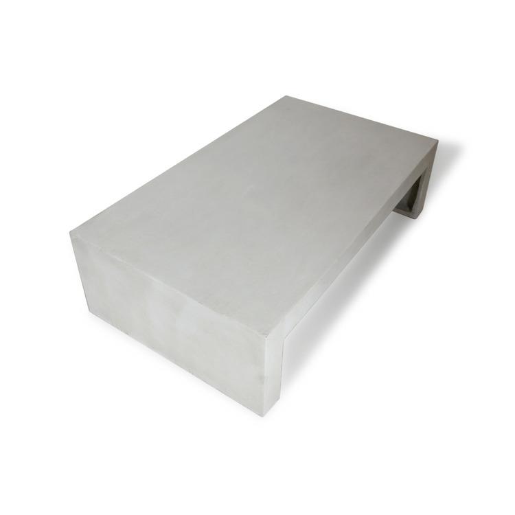 Soffbord av grå betong sett uppifrån