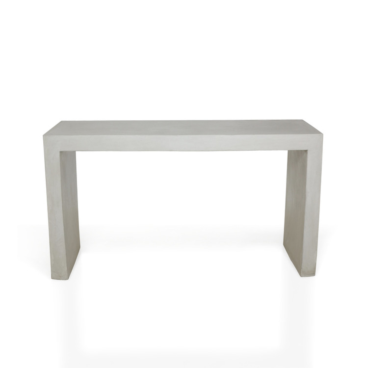 Sidebord av betong