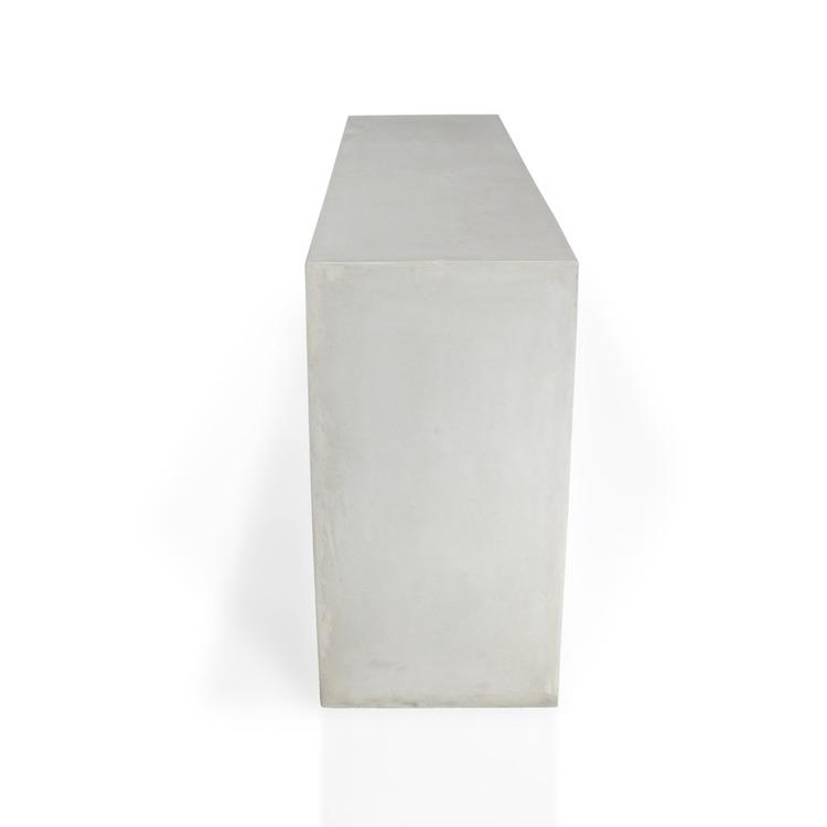 Sideboard av grå betong