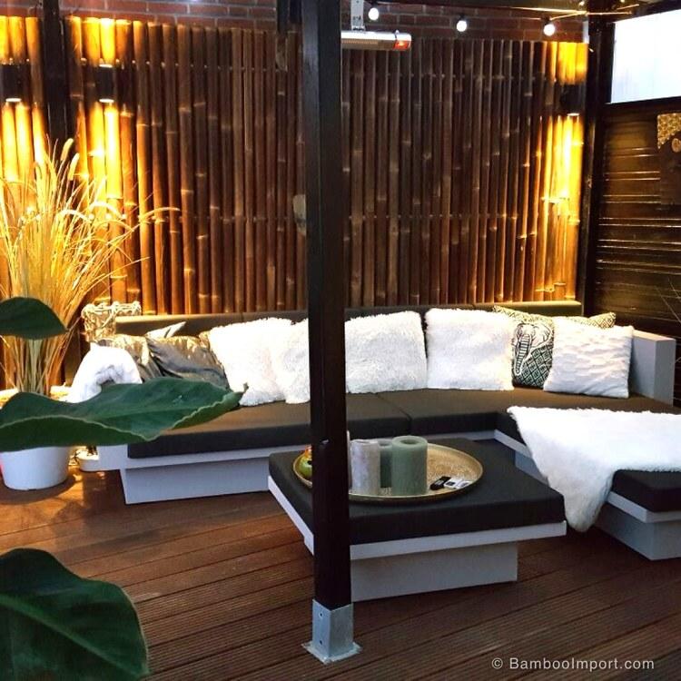 JAVA väggpanel svartbrun bambu