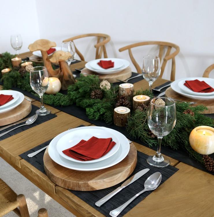 Prydsnadssvampar på matbord