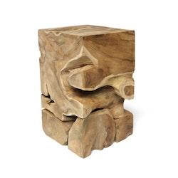 ROOT fyrkantigt sidobord/piedestal teakrot
