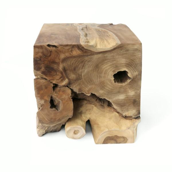 Fyrkantig sittpall av trä