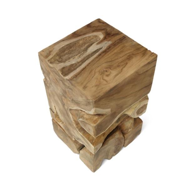 Fyrkantig träpall sedd uppifrån