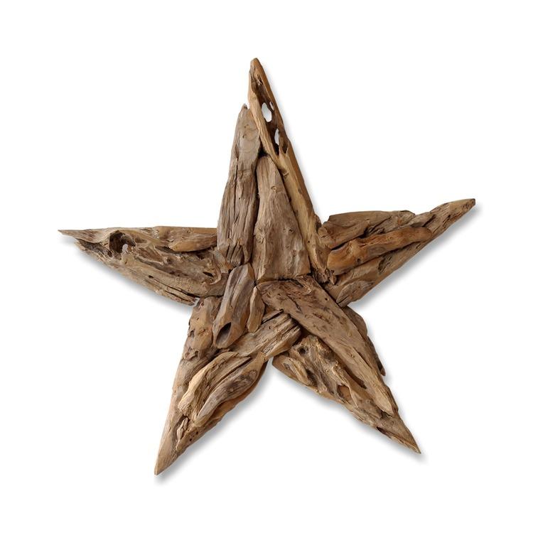 RAW stor stjärna i återvunnet trä rustik jul
