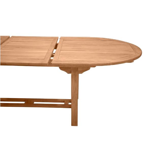 Bord med iläggsskiva förlängningsbart bord