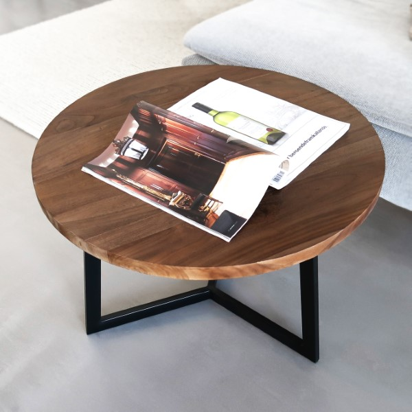 Rustik träsoffbord