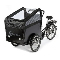 Cargobike 2-barns kapell inkl. bågar
