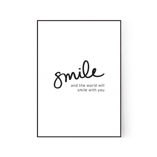 "Poster ""Smile"""