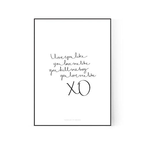 "Poster ""XO"""
