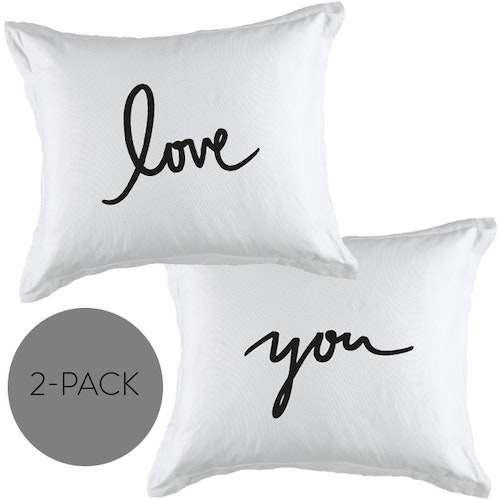 "Örngott 2-pack ""Love+You"""