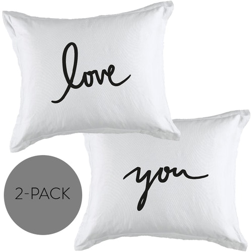 """Örngott 2-pack """"Love+You"""""""