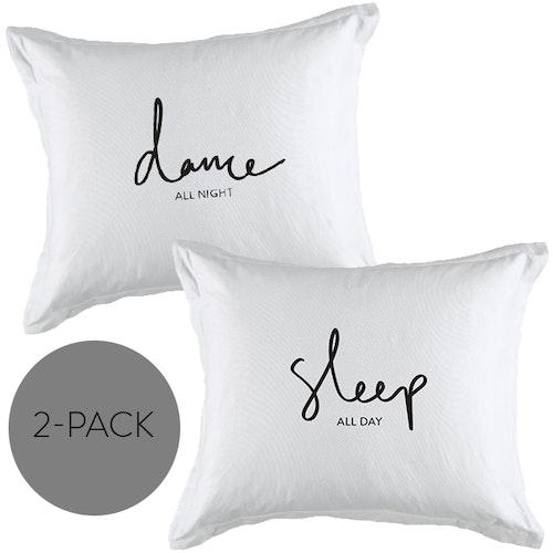 "Örngott 2-pack ""Dance+Sleep"""