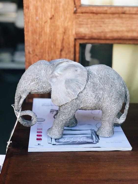 Elefant i papier maché & cement
