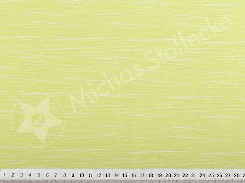 Öko-tex Stretchjersey ränder lime-gul 0,6m