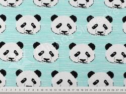 Öko-tex Stretchjersey panda mint 0,6m