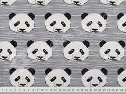 Öko-tex Stretchjersey panda grå 1m