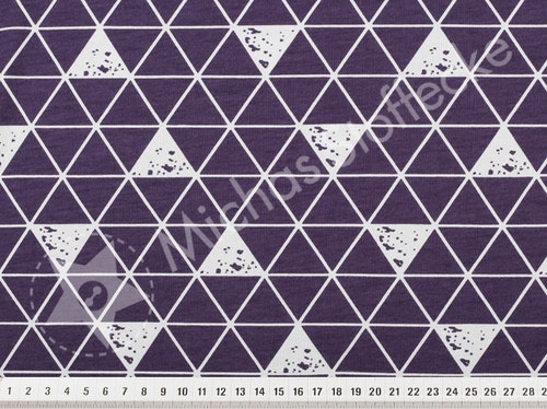 Öko-tex Stretchjersey Spot delta lila 0,6m
