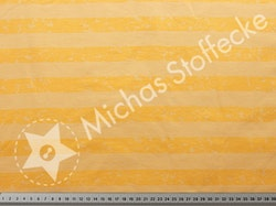 Öko-tex Stretchjersey Aprikosa ränder 0,6m