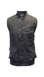 Wax bodywarmer waistcoat-Navy