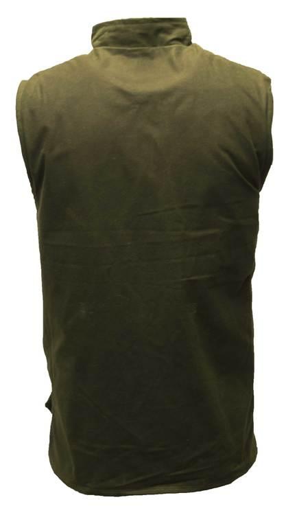 Wax bodywarmer waistcoat-Olive