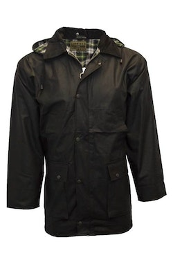 Wax unpadded jacket-Black