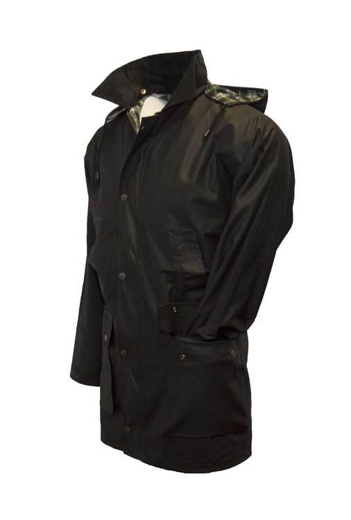 Wax unpadded jacket-Black