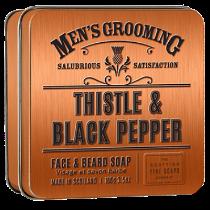 Thistle & Black Pepper Skägg- och ansiktstvål - The Scottish Fine Soaps