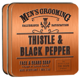 Thistle & Black Pepper Skägg- och ansiktstvål - The Scottish Fine Soaps