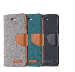 Mobilplånbok i tyg för iPhone 5
