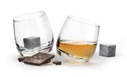 Whiskyglas 2-pack med drinksten - Sagaform
