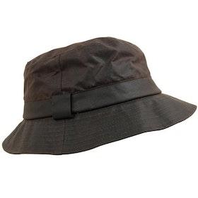 Vaxad hatt - Brun