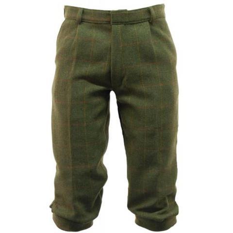 Mörkgröna tweed knickers