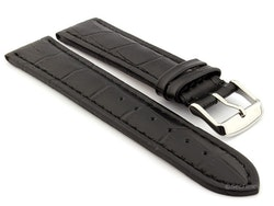 Klockarmband - Svart läder