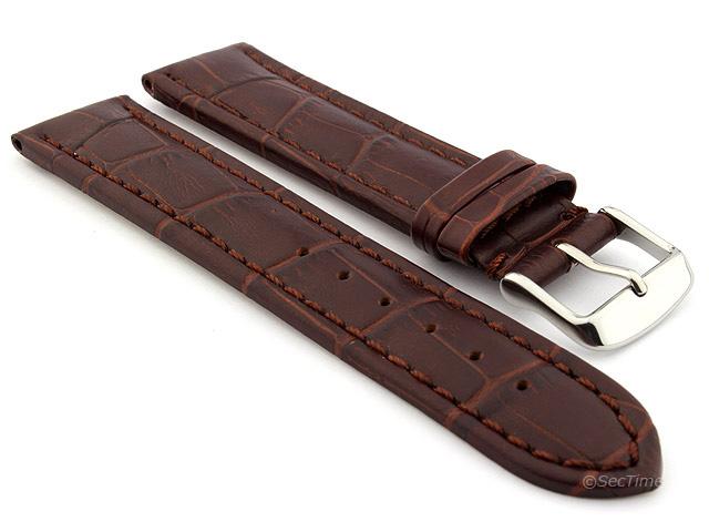 Klockarmband - Brun läder