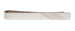 Lång slipsnål - Silver - 55mm