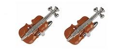 Manschettknapp - Brun fiol