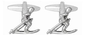 Manschettknapp - Skidåkare