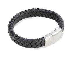 Armband - Svart flätad