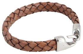 Armband - Brunt flätad
