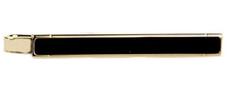 Slipsnål - Guld med Onyx - 50mm