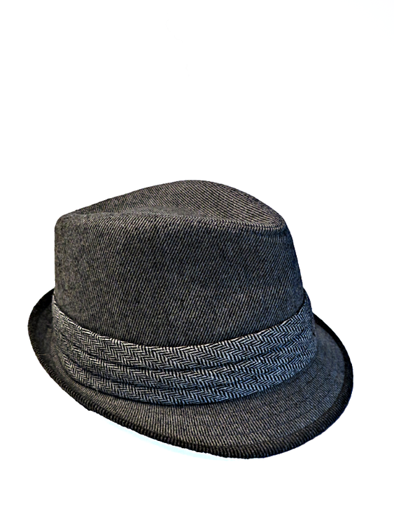 Grå Trilby hatt