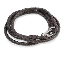 Armband - Brun flätad
